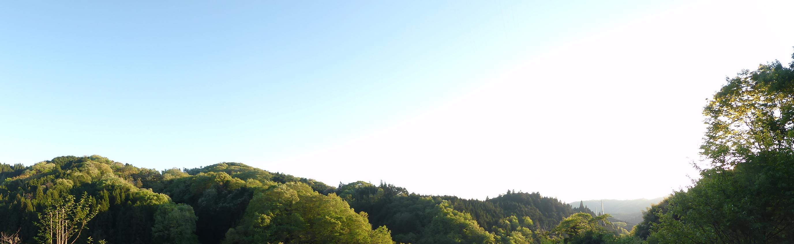 家からの景色です♪